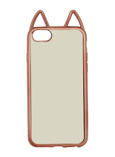Metallic Cat Ear Phone Case,ROSE,large