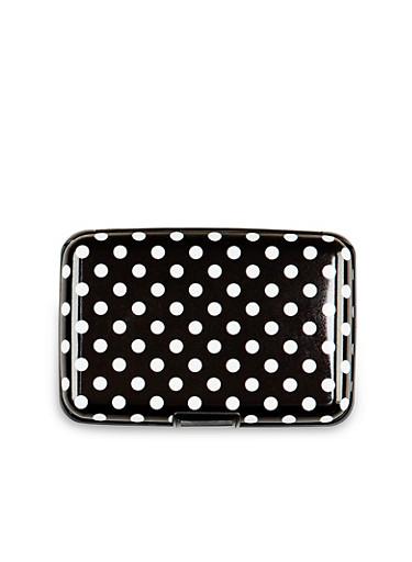 Card Holder Wallet with Polka Dot Print,MULTI COLOR,large
