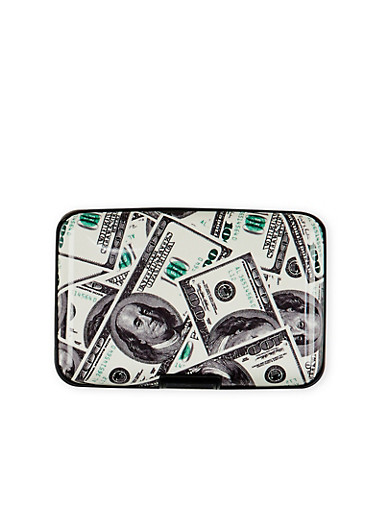 Card Holder Wallet with Money Print,MULTI COLOR,large