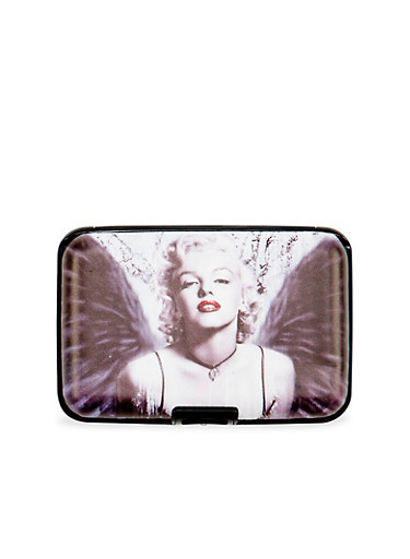 Card Holder Wallet with Marilyn Monroe Graphic,MULTI COLOR,large