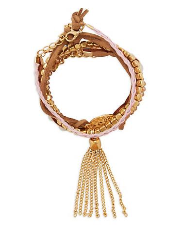 Set of 5 Bracelets,BLUSH,large