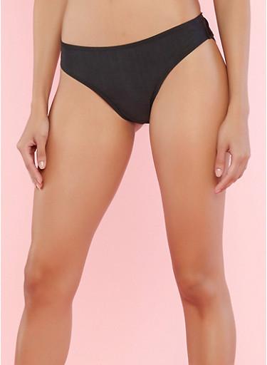 Solid Bikini Bottom,BLACK,large