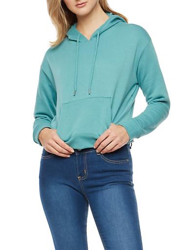 Hooded Fleece Sweatshirt,SAGE,large