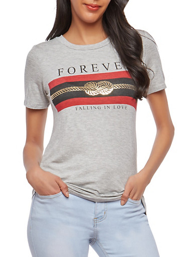 Forever Graphic T Shirt,HEATHER,large