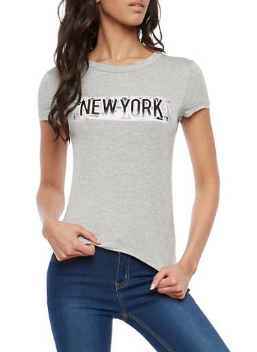 New York Graphic T Shirt,HEATHER/BLACK,large