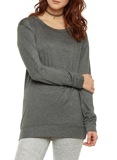 Tunic Sweatshirt,CHARCOAL,large