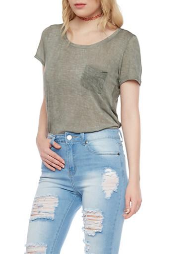Burnout T Shirt,OLIVE,large