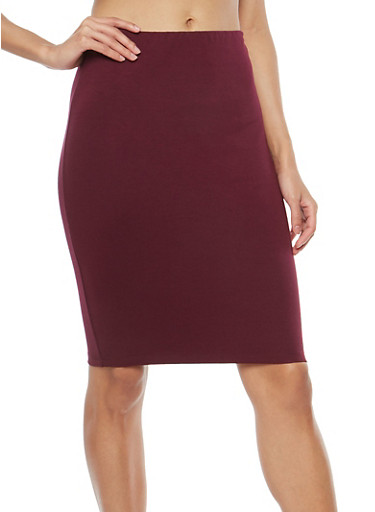 Ponte Pencil Skirt,RAISIN,large