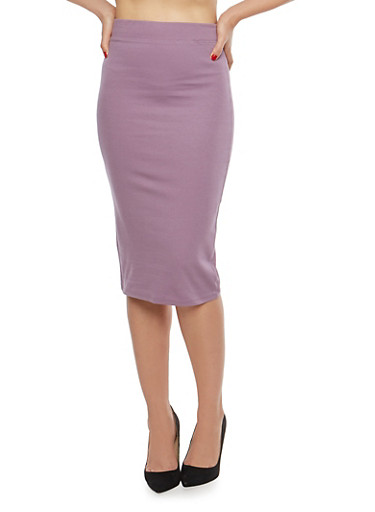 Ponte Pencil Skirt,PLUM!,large