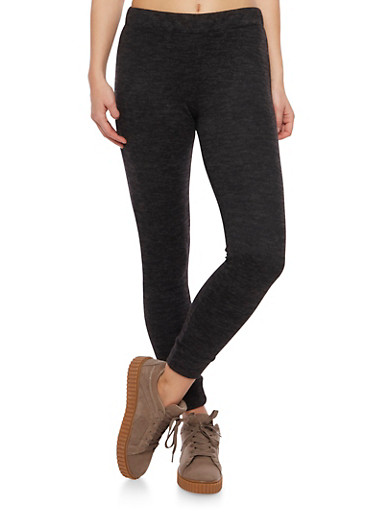 Marled Knit Joggers,BLACK,large