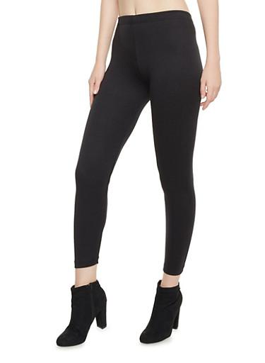 Leggings with Elastic Waistband,BLACK,large
