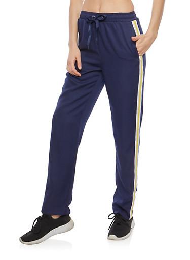 Varsity Stripe Track Pants,NAVY,large