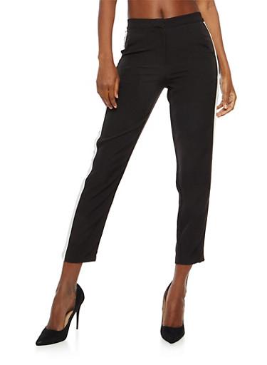 Side Stripe Pants,BLACK,large