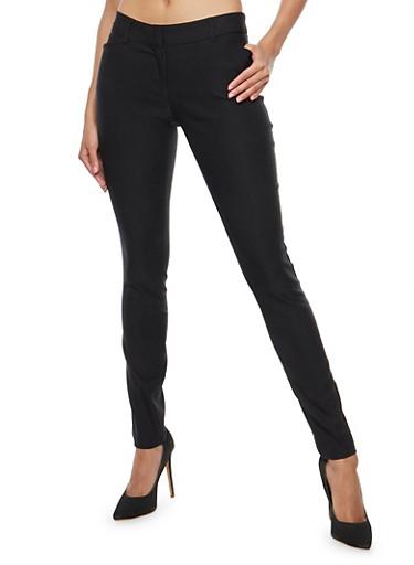 Skinny Dress Pants,BLACK,large