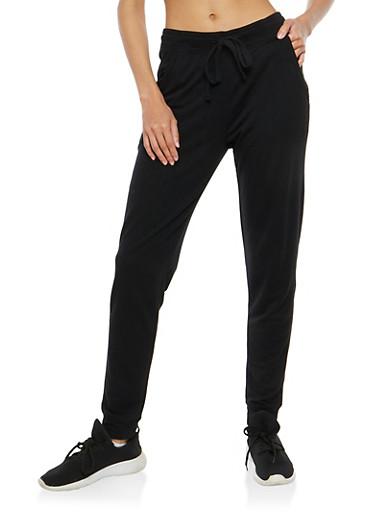 Solid Sweatpants,BLACK,large
