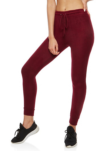 Soft Knit Joggers,BURGUNDY,large