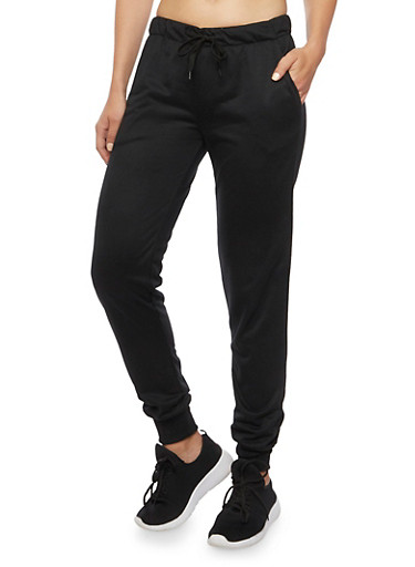 Joggers in French Terry,BLACK,large