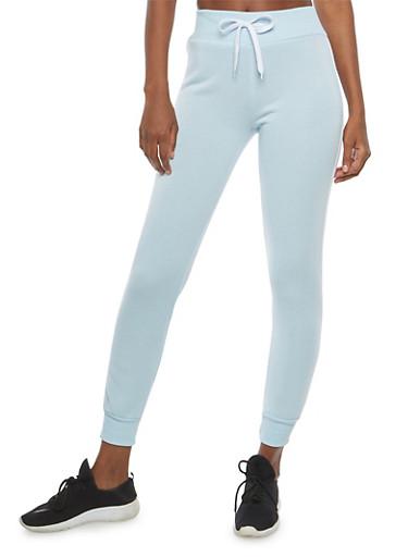Fleece Lined Varsity Stripe Sweatpants,BLUE,large