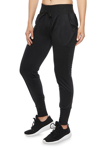 Slim Joggers with Center Pleat,BLACK,large