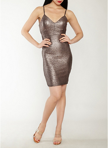 Textured Glitter Knit Bodycon Dress,GOLD,large
