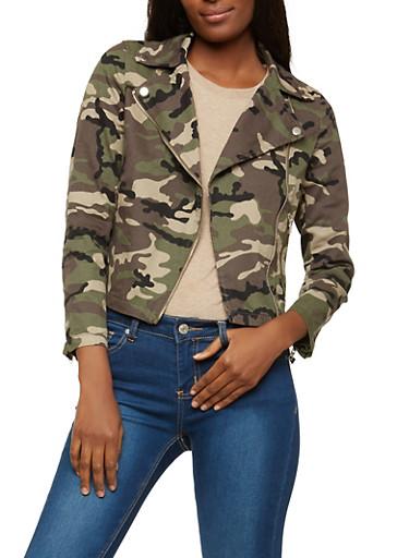 Camouflage Moto Jacket,CAMOUFLAGE,large