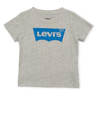 Toddler Boys Levis Logo T Shirt,GREY,large