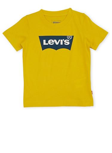 Toddler Boys Levis Logo T Shirt,GOLD,large