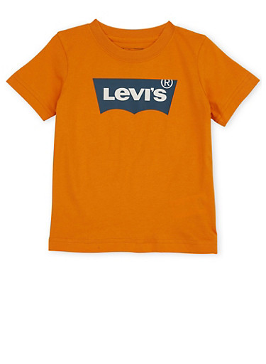 Toddler Boys Levis Tee with Logo Graphic,ORANGE,large