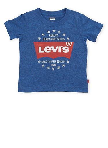 Toddler Boys Levis Crew Neck T Shirt with Star Graphic,INDIGO,large