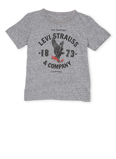 Toddler Boys Levis T Shirt with Eagle Logo Graphic,GREY,large