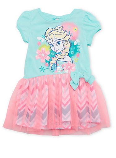 Toddler Girls Tutu Dress with Frozen Graphic,MINT,large