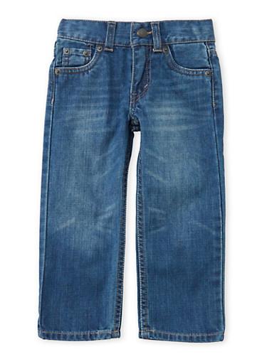 Toddler Boys Levis 514 Jeans with Light Distressing,DENIM,large