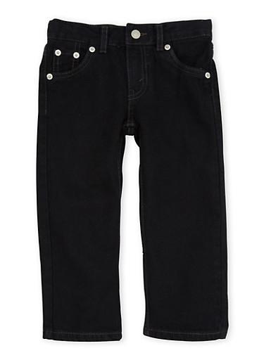 Toddler Boys Levis Straight Leg Jeans,BLACK,large