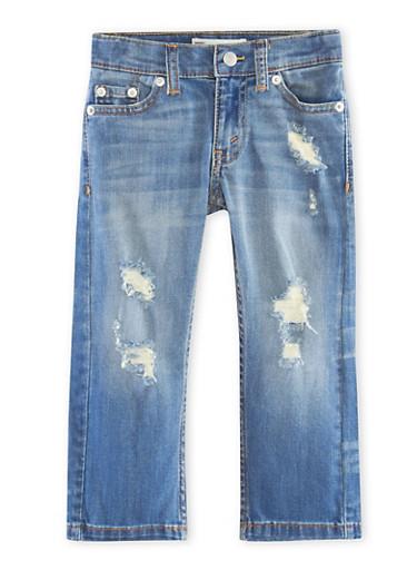 Toddler Boys Levis 511 Slim Distressed Jeans,DENIM,large