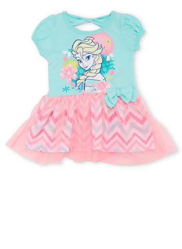 Baby Girl Tutu Dress with Frozen Graphic,MINT,large