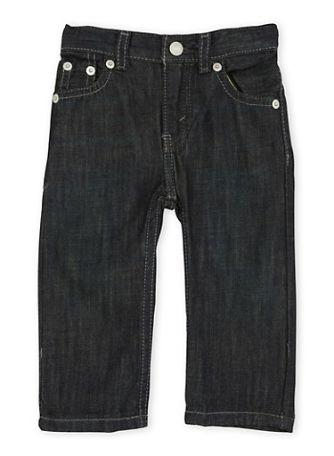 Baby Boy Levis 514 Straight Jeans in Dark Wash,DENIM,large
