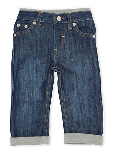 Baby Boy Levis 514 Straight Jeans with Knit Trim,DENIM,large