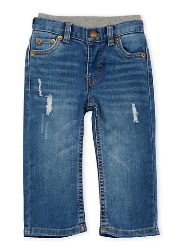 Baby Boy Levis Distressed 514 Jeans,DENIM,large