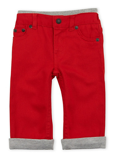 Baby Boy Levis 514 Straight Jeans with Knit Trim,RED,large