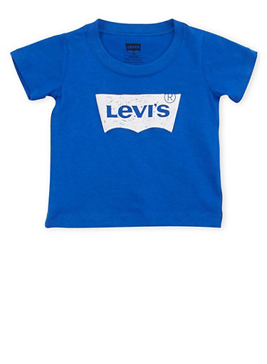 Baby Boys Levis Short Sleeve Tee with Logo Graphic,ROYAL,large