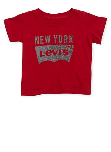 Baby Boy Levis T Shirt with New York Print,RED,large