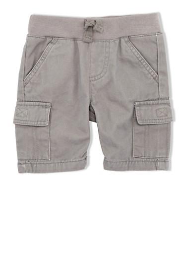 Baby Boy Levis Cargo Pants with Elastic Waistband,GREY,large