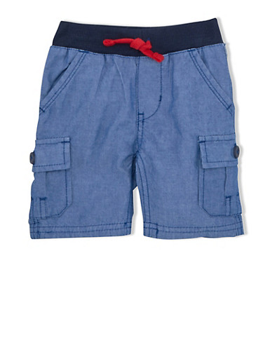 Baby Boy Levis Chino Shorts with Elastic Waistband,CHAMBRAY,large