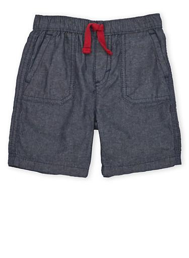 Baby Boy Levis Shorts with Elastic Waistband,INDIGO,large