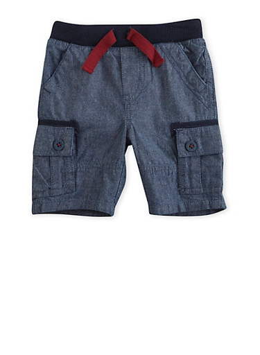 Baby Boy Levis Chambray Cargo Shorts,CHAMBRAY,large