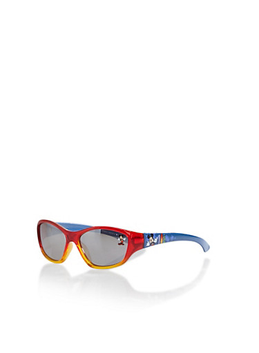 Kids Disney Sunglasses with Mickey Mouse Surfboard Graphics,MULTI COLOR,large