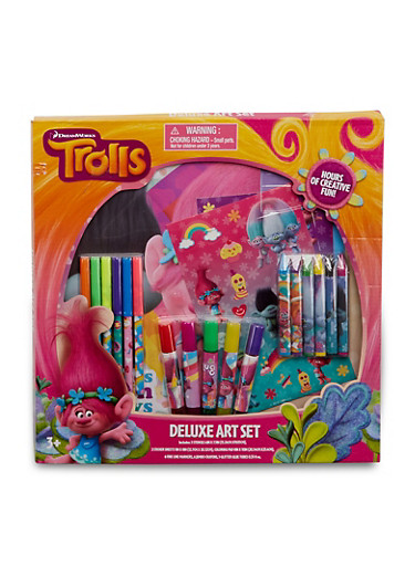 Trolls Deluxe Art Set,MULTI COLOR,large