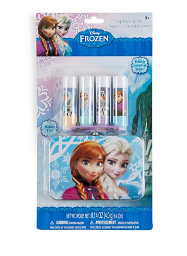 Frozen Four Piece Lip Balm and Tin Set,MULTI COLOR,large