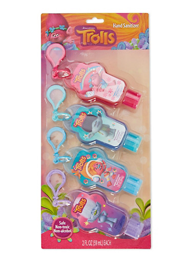 Trolls Pack of 4 Hand Sanitizers,MULTI COLOR,large