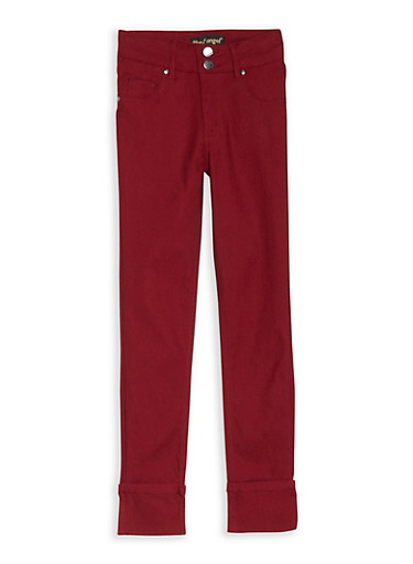 Girls 7-16 Hyperstretch Wide Cuffed Pants,TIBET RED,large